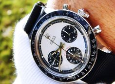 Rolex Daytona Paul Newman Stainless Steel Watch he love this! Dream Watches, Fine Watches, Luxury Watches, Cool Watches, Rolex Watches, Watches For Men, Ladies Watches, Fossil Watches, Casual Watches