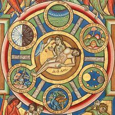 The seven days of Creation, Stammheim Missal, Hildesheim ca. 1170 (Getty Museum, Ms. 64, fol. 10v)