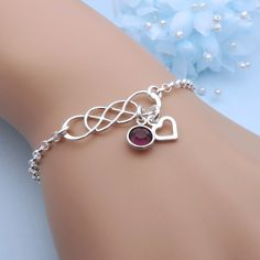 Personalized Double Infinity Bracelet, Silver Infinity, Infinite Bracelet, Friendship Bracelet, Infinity Birthstone Jewelry, Gift For Her by CrystalSongJewels on Etsy https://www.etsy.com/ca/listing/265132338/personalized-double-infinity-bracelet