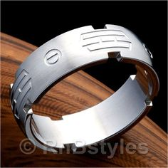 Outstanding RnB Mens 316L Stainless Steel Space 7mm Ring | RnBJewellery