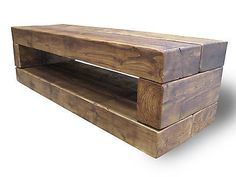 Chunky Wooden Rustic 'Chunky Stretch TV Stand' LCD TV Stand