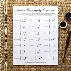 Print off the free worksheet included in this post, then pay special attention to the adjectives to make creative calligraphy!