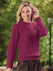 Cabled Knit Sweater    Blair