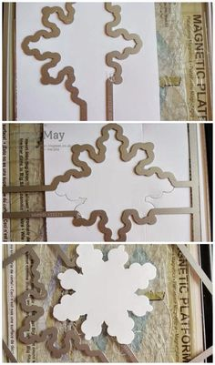 stampin up snowflake card thinlits dies