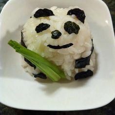 Can eat panda Food Art For Kids, Fun Snacks For Kids, Kids Meals, Cute Food, Good Food, Yummy Food, Food Design, Panda Food, Panda Sushi