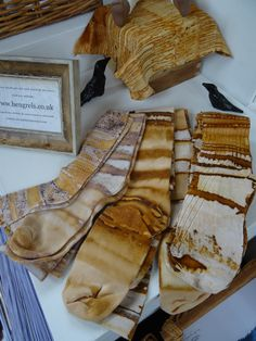 Rust dyed stockings by Jule Mallett of www.hengrels.co.uk These are beautiful!  I have rust dyed many things but it never dawned on me to do socks! Brilliant!