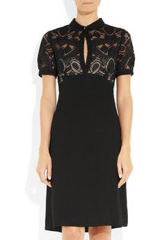 L'Agence black lace and crepe dress