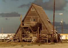 A-Frame house in Port Mansfield - 1979