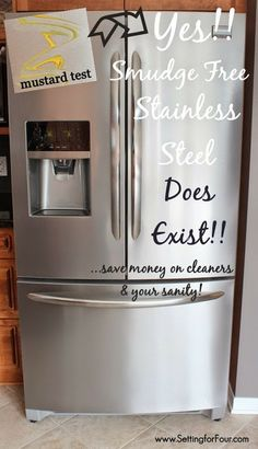 Secret to smudge proof stainless steel!: