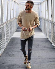 - uomini moda casual, moda u Mens Fashion Blog, Mens Fashion Suits, Look Fashion, Fashion 2017, Fashion Styles, Fashion Boots, Woman Fashion, Fashion Guide, Fall Fashion