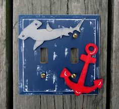 Hammerhead Shark Double Light Switch Plate Cover  by BirchTreeKids, $29.99