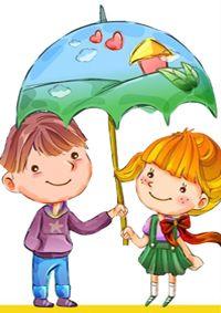 ♥ Dibujos a color ♥: Decoupage, Under My Umbrella, Cartoon Kids, Rainy Days, Smurfs, Pikachu, Baby Kids, Friendship, Illustration Art