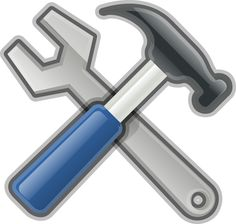 Tools, Hammer, Spanner by @Andy, A very glossy yet socialist looking hammer and spanner