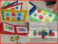 DIY toddler board books  -  Pinned by @PediaStaff – Please Visit http://ht.ly/63sNt for all our pediatric therapy pins