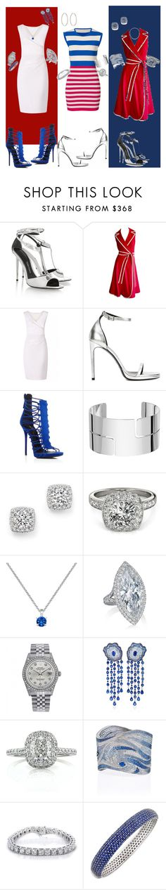 """""""RED WHITE& BLUE."""" by shalisealston on Polyvore featuring Camilla and Marc, Tom Ford, Diane Von Furstenberg, Yves Saint Laurent, Giuseppe Zanotti, Dinh Van, Bloomingdale's, Allurez, Rolex and Mark Broumand"""