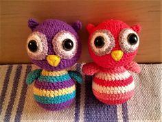 Bagolyságok😊 Amigurumi owl, crochet owl Amigurumi Toys, Owl, Crochet Hats, Clay, Knitting Hats, Clays, Owls, Modeling Dough