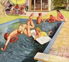 Summer Dreaming - detail from 1954 Bakelite ad.