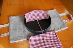 Portatorte in cotone con fondo imbottito per teglie di diverse forme e dimensioni