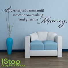 LOVE WORD MEANING WALL STICKER QUOTE - LOVE HOME LOUNGE WALL ART DECAL X111