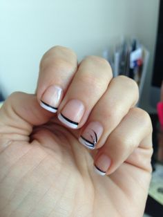 Simple nail design.  Glitter makes anything look good! Nails   Nail simple nail designs