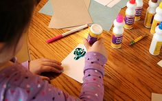 color with a white crayon and then use bingo daubers to paint the page to reveal your drawing