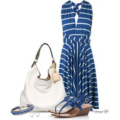 WRAP DRESS by happygirljlc on Polyvore - cute and simple!  Love a dress when it's REALLY hot :)
