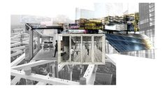 Collage of potential economic and industrial development