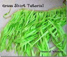 Grass Skirt Tutorial and a Luau Birthday