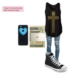 """""""Untitled #335"""" by nicola-882 ❤ liked on Polyvore featuring Yves Saint Laurent, Converse and Jack Spade"""