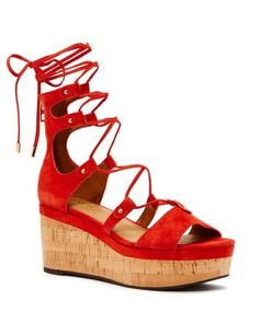 COACH Barkley Suede Wedge Sandals | Bloomingdale's