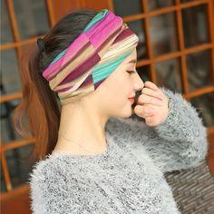3Pcs Women Turban Hat Scarf Beanie Ladies 3 In 1 Multifunction Beanies Hat Female Colorful Striped Girls Cap Chapeu Gorro