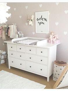 Baby Bedroom White Colour 55 New Ideas Ikea Nursery, Baby Nursery Decor, Baby Decor, Nursery Room, Girl Nursery, White Nursery, Nursery Furniture, Project Nursery, Baby Room Boy