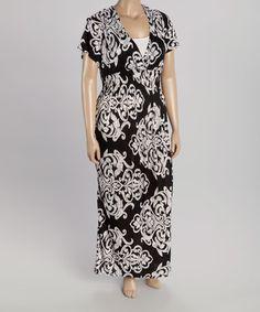Black Ornate Maxi Dress - Plus #zulily #zulilyfinds
