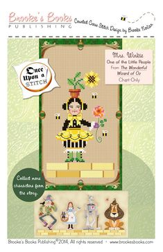 Chart of Brookes Books Once Upon A Stitch Mrs. Winkie, The Bee Keeper, From The Wonderful Wizard Of Oz by L. Frank