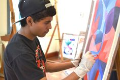Painting class for teens.