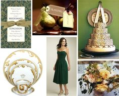 hunter green wedding - Google Search