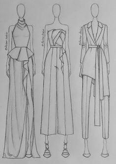 Fashion Illustration Portfolio, Dress Illustration, Fashion Design Sketchbook, Fashion Illustration Dresses, Fashion Design Drawings, Fashion Sketches, Fashion Model Drawing, Fashion Figure Drawing, Fashion Drawing Dresses