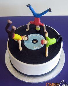 Break dancing record cake - CMNY Cakes