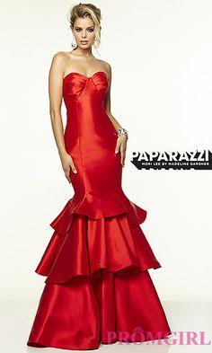 Strapless Mori Lee Dress with Mermaid Skirt at PromGirl.com
