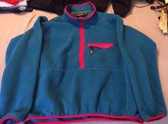 Vintage Patagonia 3/4 Zip Fleece Men's XL MADE IN USA Snap #Patagonia #FleeceJacket