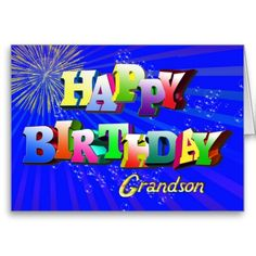 Grandpa Birthday with Bubbles and Fireworks card. Personalize any greeting card for no additional cost! Cards are shipped the Next Business Day. Happy Birthday Nephew, Birthday Wish For Husband, Birthday Wishes For Him, Birthday Quotes For Him, Grandpa Birthday, Happy Birthday Greetings, Sons Birthday, Card Birthday, Humor Birthday