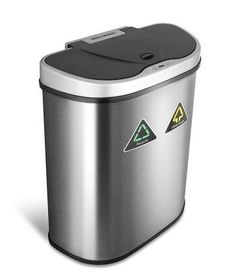 Quality For Life Ninestars Auto Car Vehicle Garbage Can Trash Bin Waste Container Quality Plastic EXTRA LARGE 1 Gallon 4 Liter
