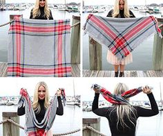 There are scarves, and then there are blanket scarves. Blanket scarves are a giant version of a scarf that are so big they could even be used as, you guessed it, a blanket. They're warm, cozy, comf...