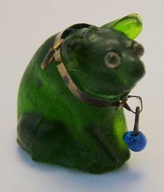 1920's Czech glass pig charm.