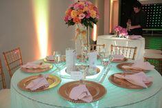 Decoração da mesa de convidados do casamento