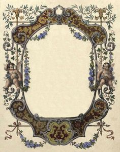 The Sum Of All Crafts: Frame It Out Decoupage Vintage, Vintage Paper, Molduras Vintage, Vintage Illustration, Printable Frames, Borders And Frames, Collage Frames, Ornaments Design, Elements Of Art