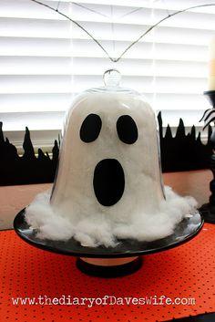 Halloween r cup 39 et bricolage on pinterest halloween for Cloche verre decorative