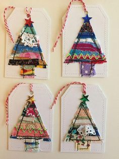 Great Cost-Free christmas Sewing ideas Tips Sewing christmas gifts scrap fabric Ideas Unique Christmas Trees, Christmas Makes, Christmas Gift Tags, Homemade Christmas, Christmas Tree Ornaments, Christmas Holidays, Snowman Ornaments, Xmas Tree, Fabric Christmas Decorations