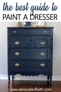 Benjamin Moore Hale Navy is the perfect navy for walls, cabinets and even furniture. Be sure to use these tips before your next painting project! Glazing Furniture, Furniture Refinishing, Diy Furniture Projects, Painting Furniture, Diy Projects, Navy Furniture, White Washed Furniture, Farmhouse Furniture, Cool Furniture