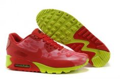 reputable site 450ee 3365a Cheap Nike Air Max 90 Hyperfuse PRM 2014 25 Anniversary Womens Sport Shoes  Green Red for sale with great discount! Best nike 90 air max look  fashionable and ...